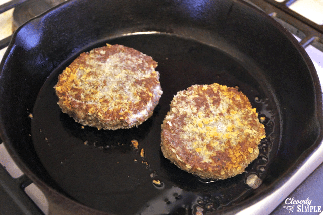 look what black bean burgers look like yum