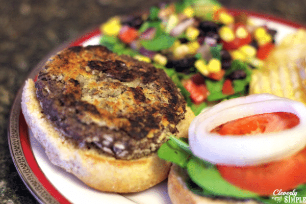 making burgers with black beans