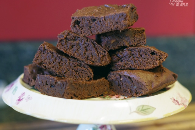 moist homemade sweet potato brownies