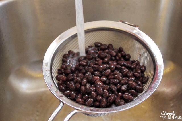 rinse black beans before making black bean burgers