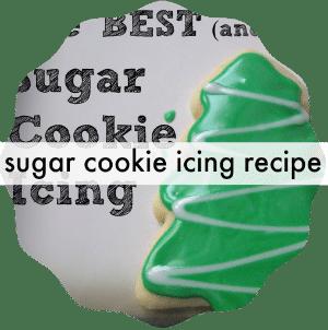 sugar cookie icing recipe