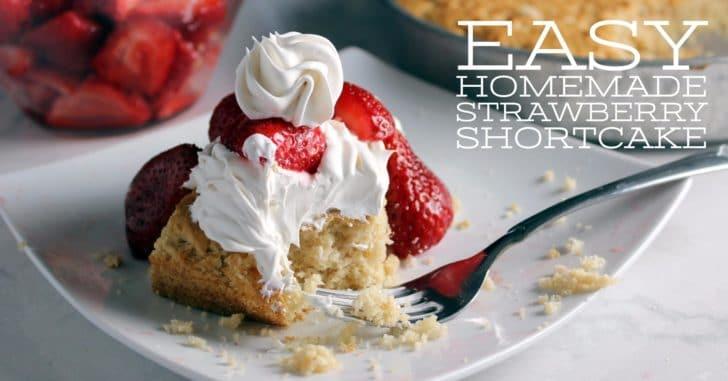 Easy homemade strawberry shortcake fb