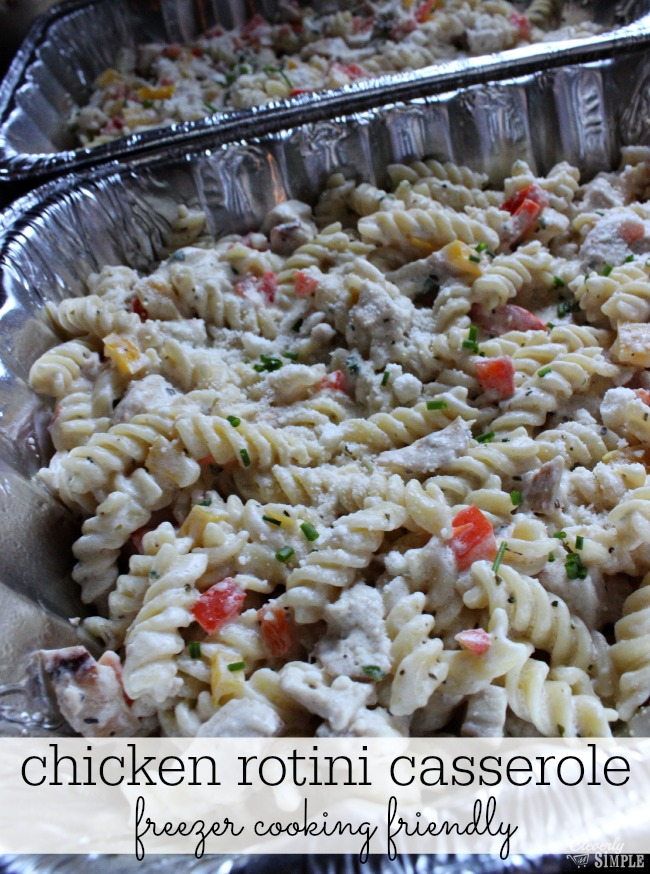 chicken casserole freezer cooking rotini