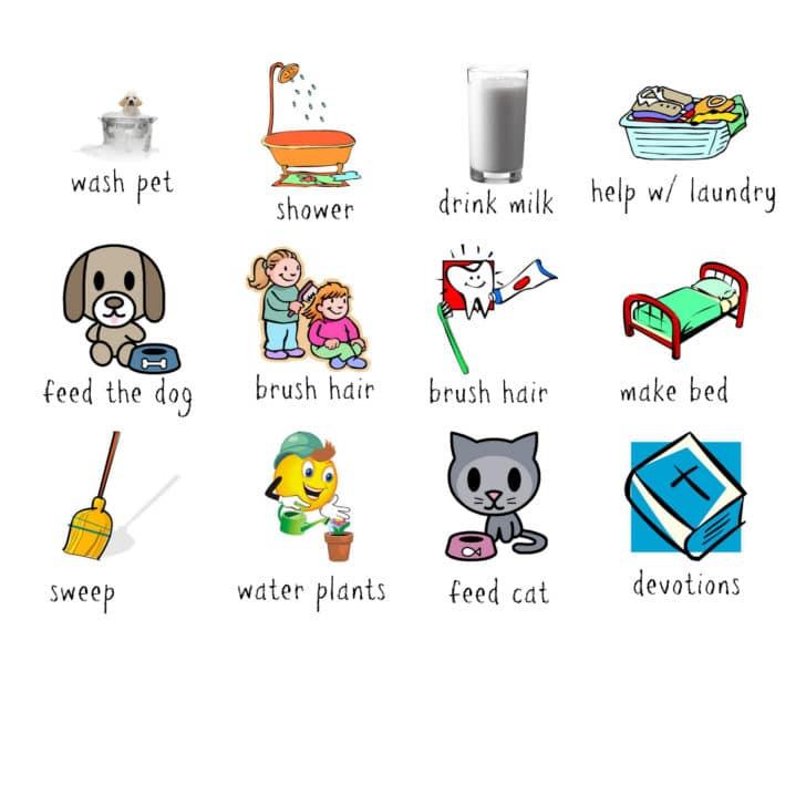 diy chore chart idea for kids cleverly simplerecipes diy