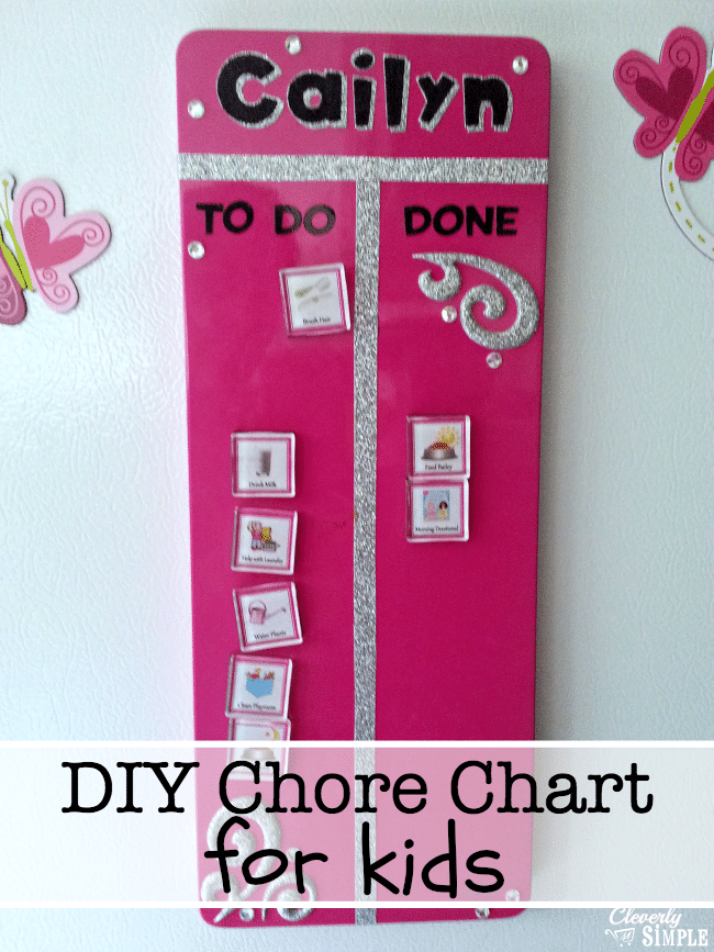 daily chore chart ideas for kids