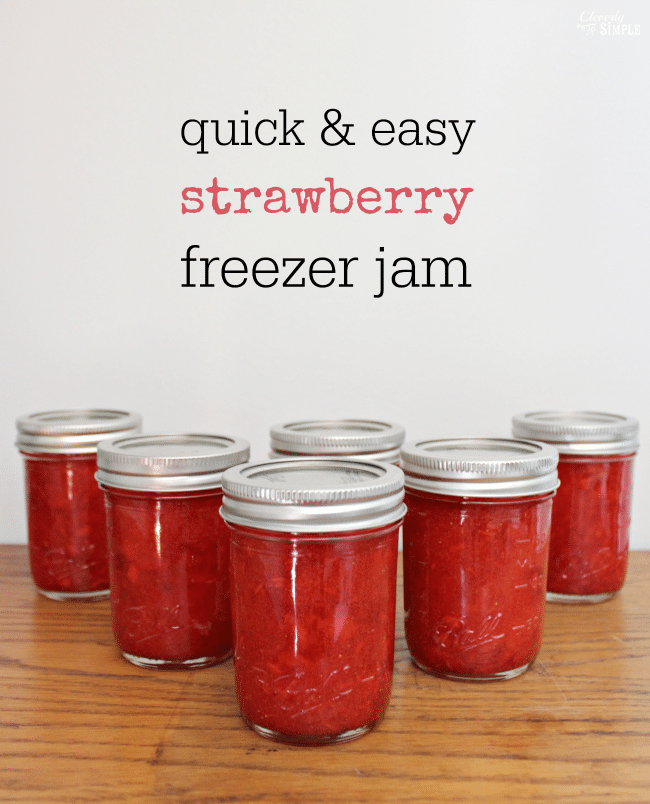 Easy Strawberry Jam Recipe - Freezer Jam