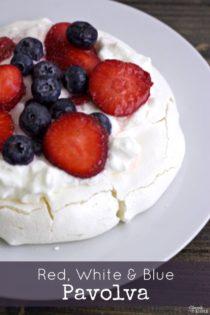 Red, White and Blue Pavlova (July 4th Dessert Recipe!)