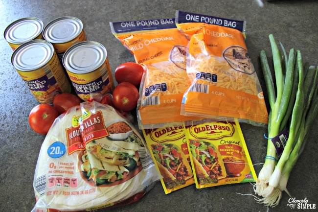 Ingredients to Make Mexican Lasagna Homemade