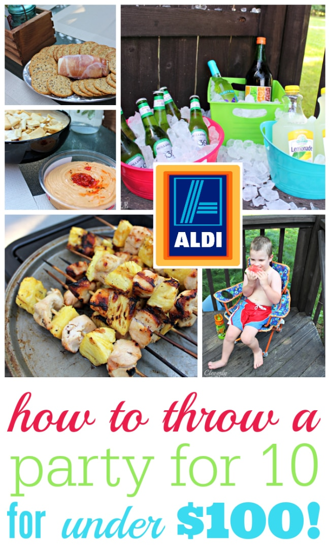 Party for 10 for under $100 with Aldi #sponsored