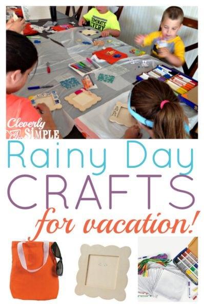 Rainy Day Craft Idea for Vacation