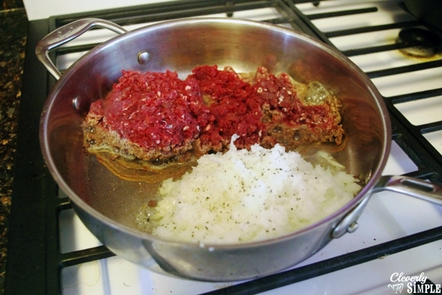 In a large skillet, brown 1 lb of your favorite ground meat with 1 cup ...