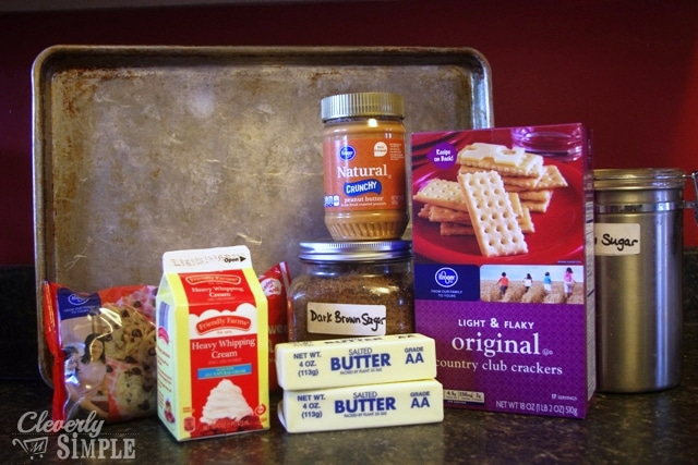 ingredients to make homemade candy bar