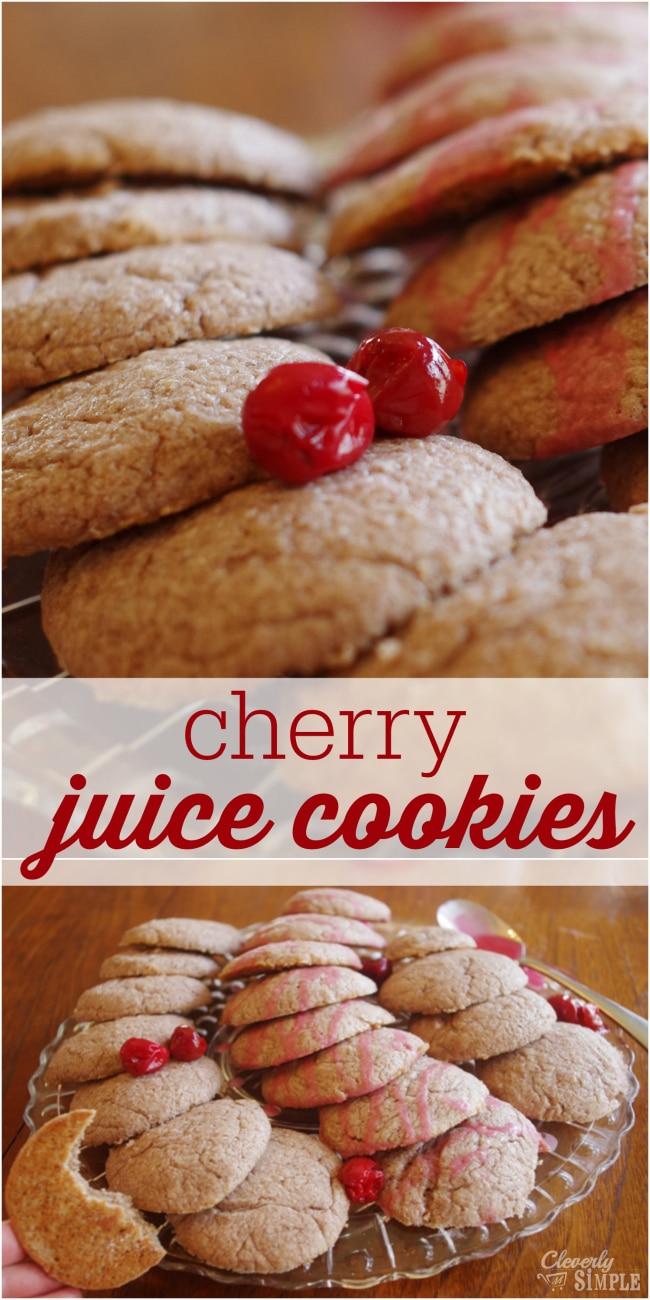 Cherry Juice Cookies made homemade