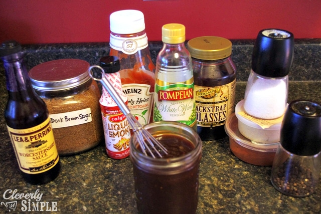 Homemade Barbecue Sauce and Pizza Ingredients