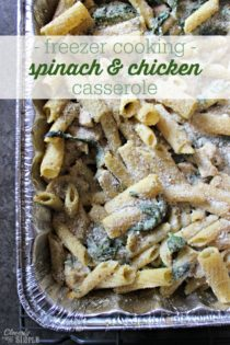Spinach and Chicken Alfredo Recipe (Freezer Cooking!)