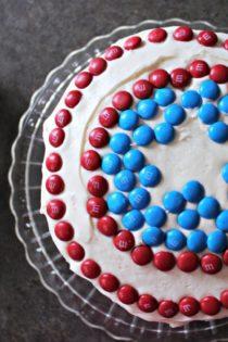 How To Make A SuperHero Cake With M&Ms