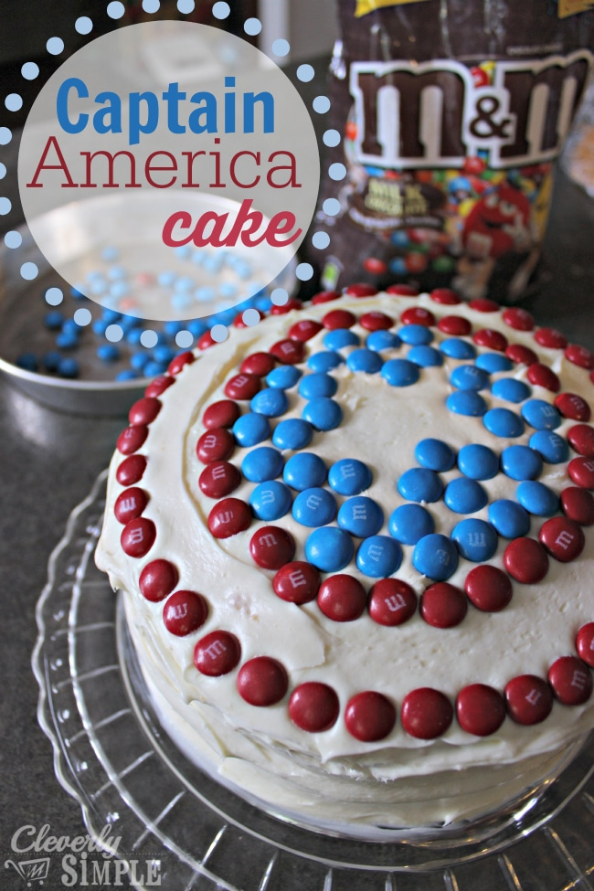 How to make a captain America cake with MMs