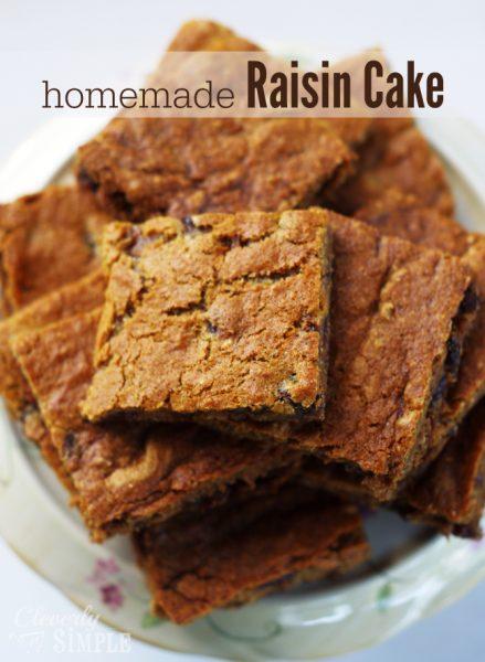 Homemade Raisin Cake Recipe