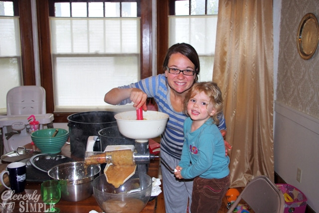 Making Applesauce with Family