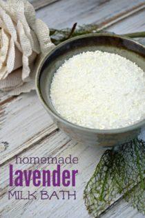 Homemade Lavender Milk Bath