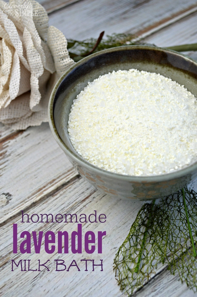 how to make homemade lavender milk bath gift idea