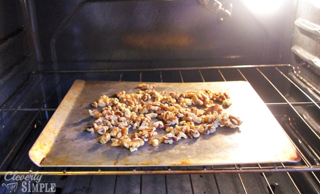 How to roast nuts for homemade biscotti