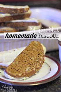 Maple Nut Biscotti Recipe