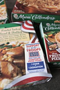 Support Our Troops with Marie Callender's Frozen Meals and Desserts