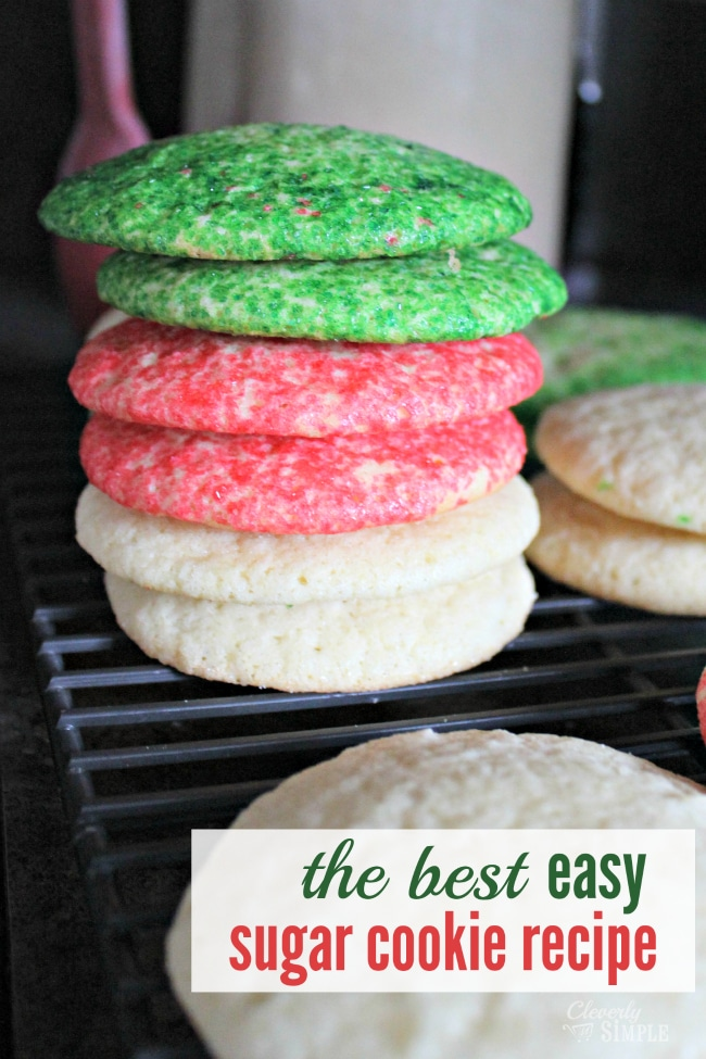 The Best Easy Sugar Cookie Recipe - Cleverly Simple®