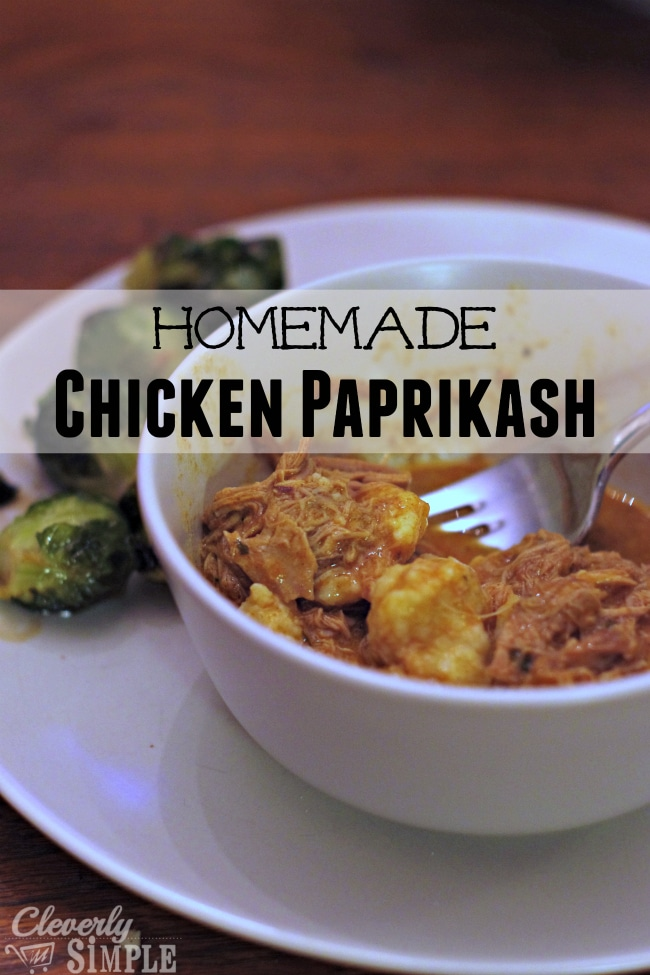 homemade chicken paprikash