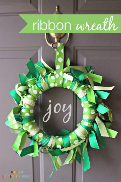 DIY How to make a ribbon wreath