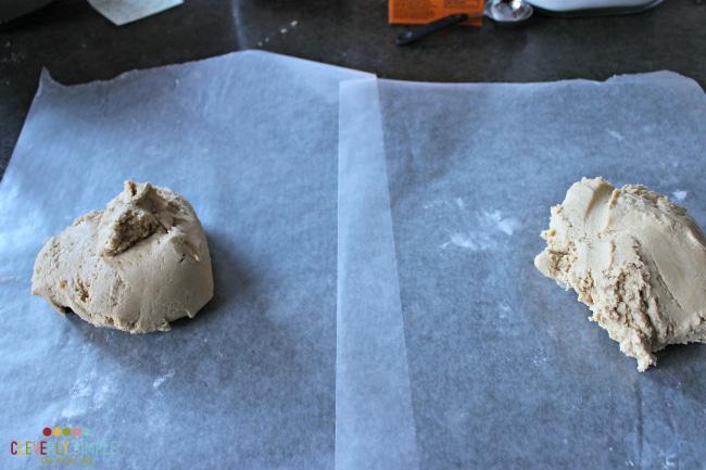 Divide dough to make butterscotch cookies