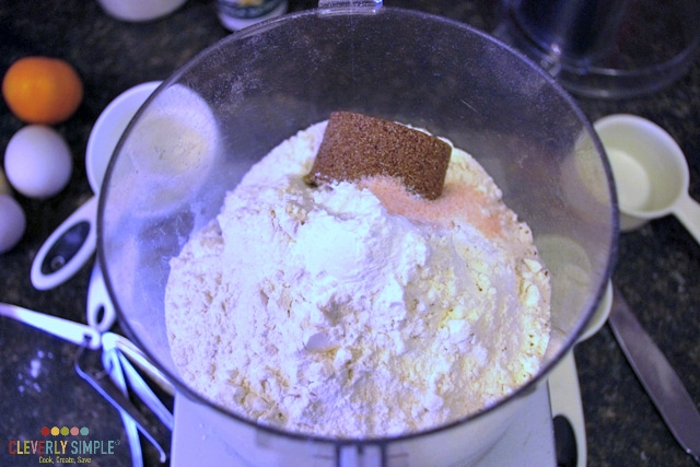 Mixing ingredients for scones