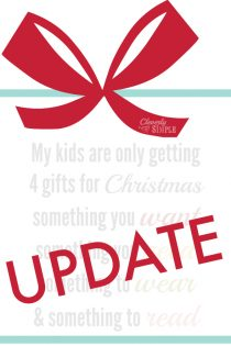My Personal Goal for 2015 (And an update about the few gifts my kids got for Christmas.)