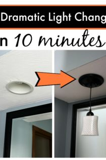 Cheap, Simple, DIY Lights: Change Your Canned Lights To Pendants In 10 Minutes
