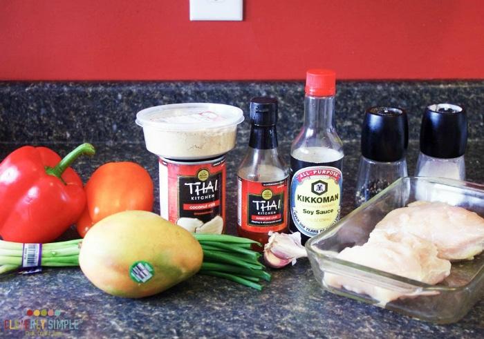Ingredients for Chicken Stir Fry