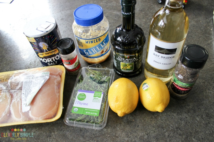 Ingredients for Lime Chicken