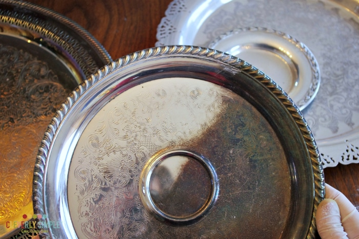 Difference in silver plate after shining