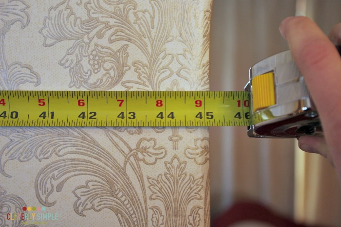Measuring for wall placement