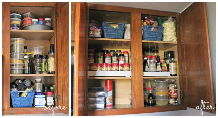 Organized spice racks