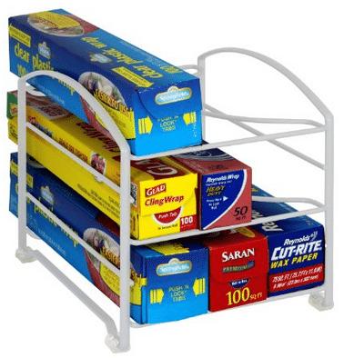 Organize your foil and saran wrap