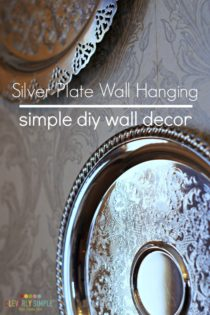 Simple DIY Wall Decor: Silver Plate Wall Hanging