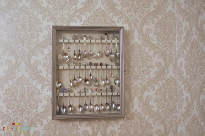 Spoon Display Transformation Simple DIY Wall Decor