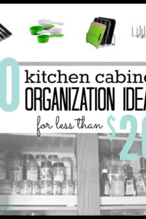 10 Kitchen Cabinet Organization Ideas For Less Than $20 (Plus, how I'm using them!)