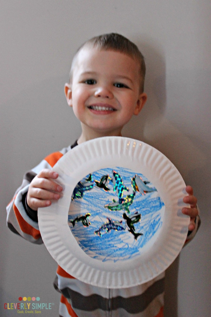 proud of his ocean paper plate craft
