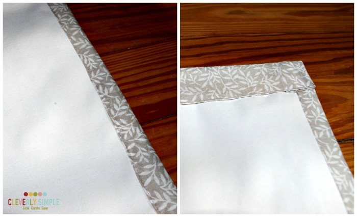 Edges for Homemade Easy Roman Shades
