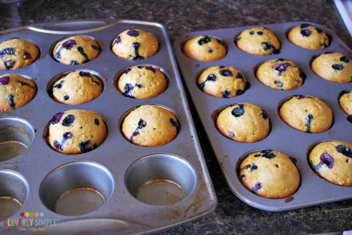 delicious easy homemade simple blueberry muffins