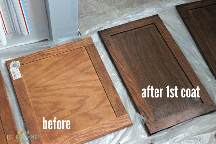 gel stain after 1st coat