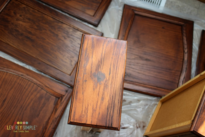gel stain on drawer