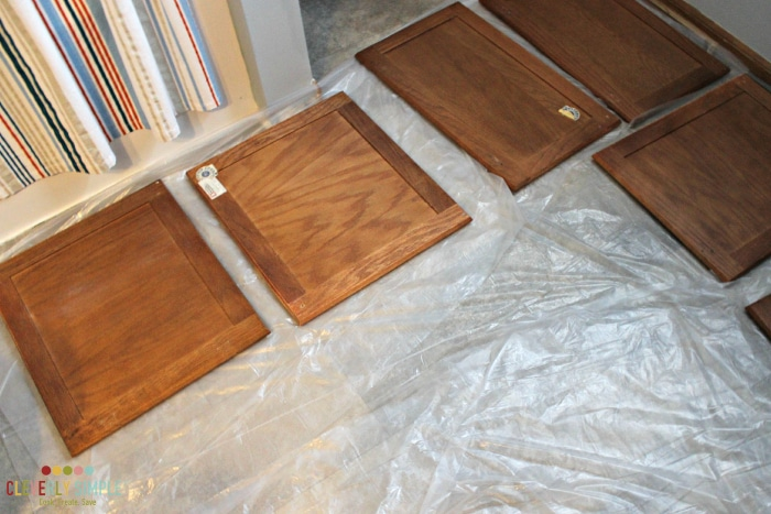 how to set up a small space to gel stain